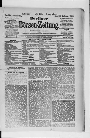 Berliner Börsen-Zeitung vom 28.02.1903