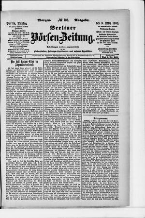 Berliner Börsen-Zeitung vom 03.03.1903