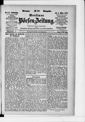 Berliner Börsen-Zeitung vom 05.03.1903