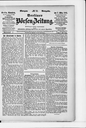 Berliner Börsen-Zeitung vom 07.03.1903