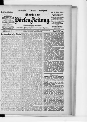 Berliner Börsen-Zeitung vom 08.03.1903