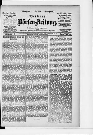 Berliner Börsen-Zeitung vom 10.03.1903