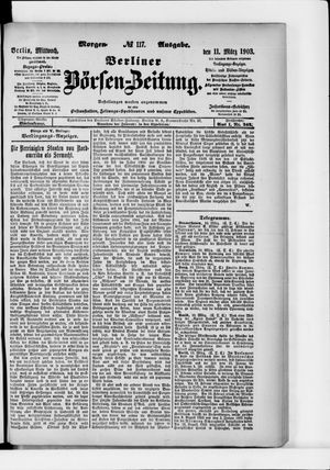 Berliner Börsen-Zeitung on Mar 11, 1903