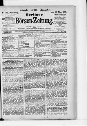 Berliner Börsen-Zeitung vom 12.03.1903