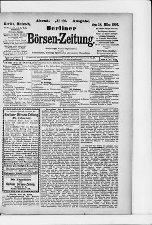 Berliner Börsen-Zeitung vom 18.03.1903