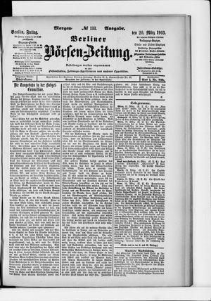 Berliner Börsen-Zeitung vom 20.03.1903