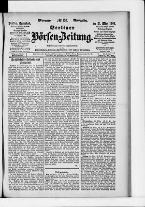 Berliner Börsen-Zeitung on Mar 21, 1903