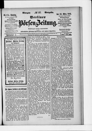 Berliner Börsen-Zeitung vom 22.03.1903