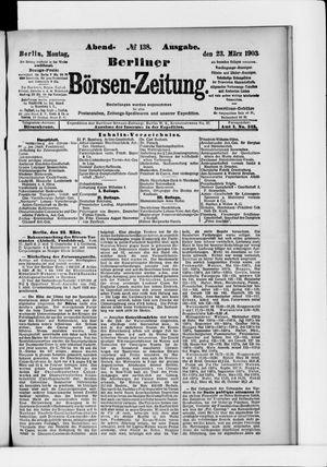 Berliner Börsen-Zeitung vom 23.03.1903