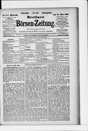 Berliner Börsen-Zeitung vom 25.03.1903