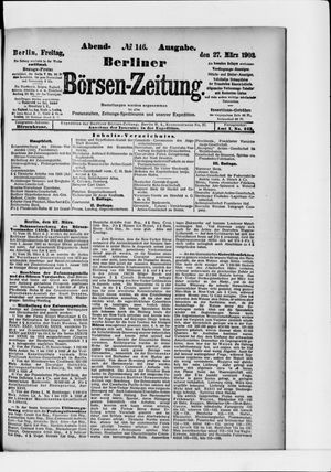 Berliner Börsen-Zeitung vom 27.03.1903