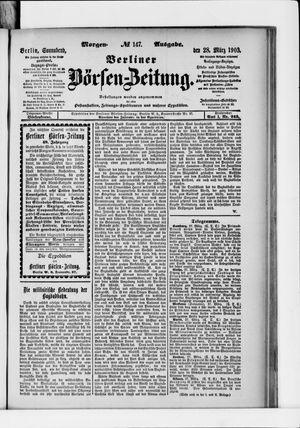 Berliner Börsen-Zeitung vom 28.03.1903