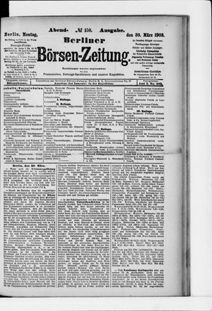 Berliner Börsen-Zeitung vom 30.03.1903