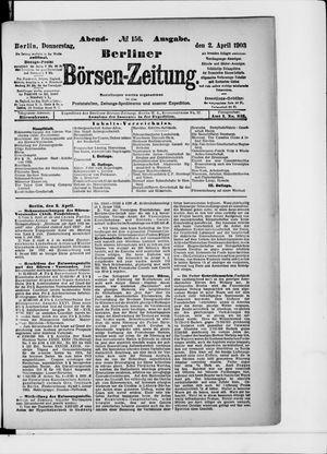 Berliner Börsen-Zeitung vom 02.04.1903