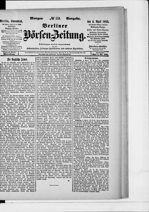 Berliner Börsen-Zeitung vom 04.04.1903