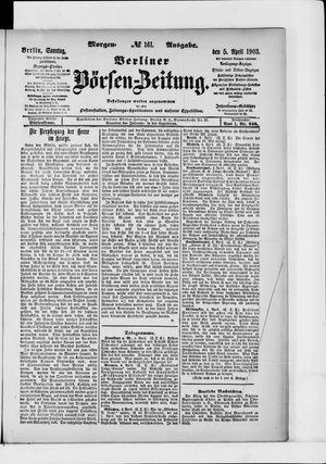 Berliner Börsen-Zeitung vom 05.04.1903