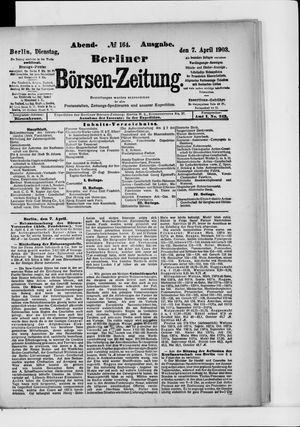Berliner Börsen-Zeitung vom 07.04.1903