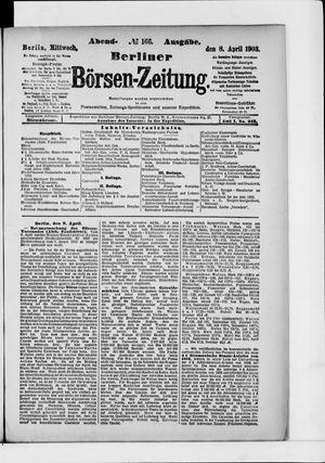 Berliner Börsen-Zeitung vom 08.04.1903
