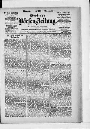 Berliner Börsen-Zeitung vom 09.04.1903