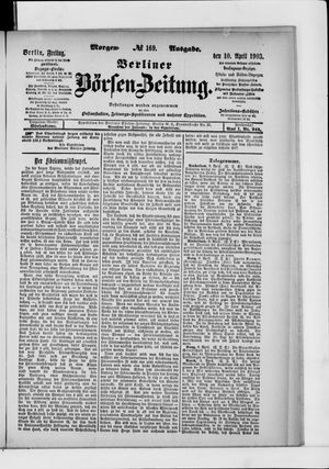 Berliner Börsen-Zeitung vom 10.04.1903