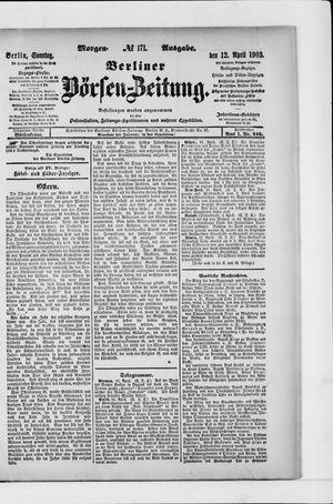 Berliner Börsen-Zeitung vom 12.04.1903