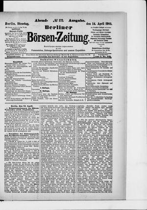 Berliner Börsen-Zeitung vom 14.04.1903