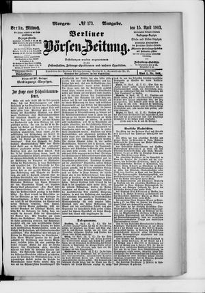 Berliner Börsen-Zeitung vom 15.04.1903
