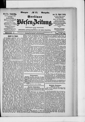 Berliner Börsen-Zeitung vom 16.04.1903