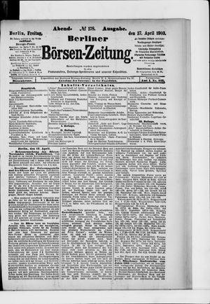 Berliner Börsen-Zeitung vom 17.04.1903