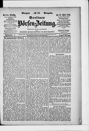 Berliner Börsen-Zeitung vom 21.04.1903