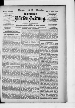 Berliner Börsen-Zeitung vom 22.04.1903