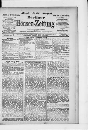 Berliner Börsen-Zeitung on Apr 23, 1903