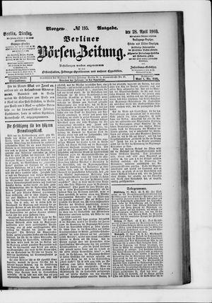 Berliner Börsen-Zeitung vom 28.04.1903