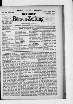 Berliner Börsen-Zeitung vom 29.04.1903