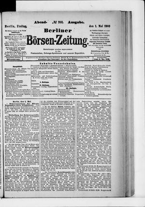 Berliner Börsen-Zeitung vom 01.05.1903