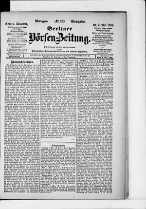 Berliner Börsen-Zeitung vom 02.05.1903
