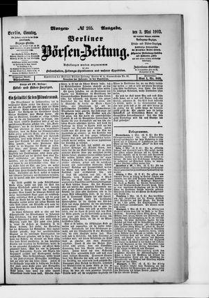 Berliner Börsen-Zeitung vom 03.05.1903