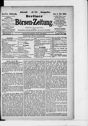 Berliner Börsen-Zeitung vom 06.05.1903