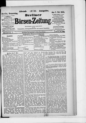 Berliner Börsen-Zeitung vom 07.05.1903