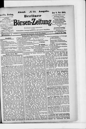 Berliner Börsen-Zeitung vom 08.05.1903