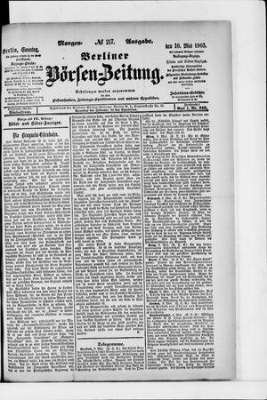 Berliner Börsen-Zeitung vom 10.05.1903