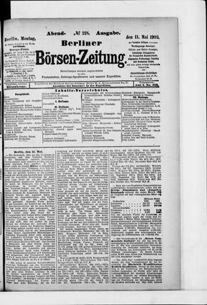 Berliner Börsen-Zeitung vom 11.05.1903