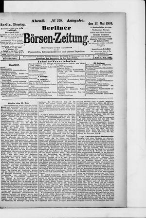 Berliner Börsen-Zeitung vom 12.05.1903