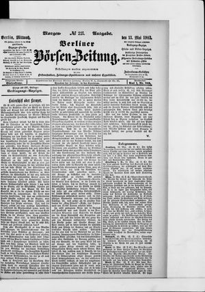 Berliner Börsen-Zeitung vom 13.05.1903