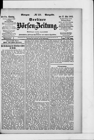 Berliner Börsen-Zeitung vom 17.05.1903