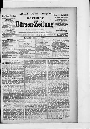 Berliner Börsen-Zeitung vom 22.05.1903