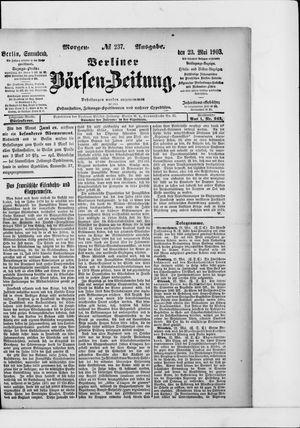 Berliner Börsen-Zeitung vom 23.05.1903