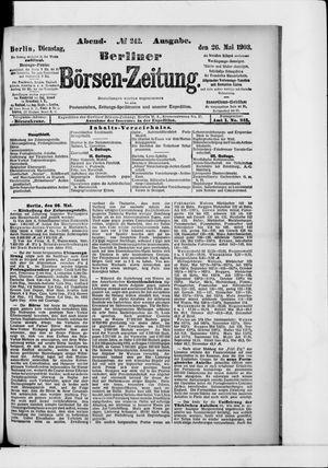 Berliner Börsen-Zeitung vom 26.05.1903