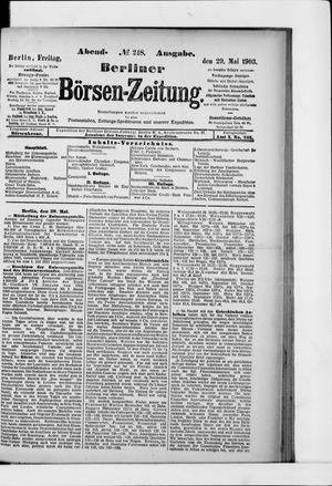 Berliner Börsen-Zeitung on May 29, 1903