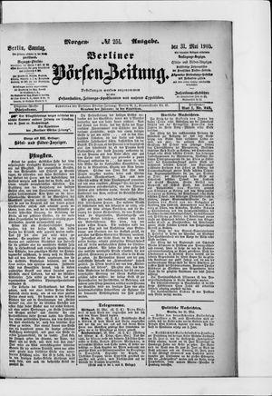 Berliner Börsen-Zeitung vom 31.05.1903